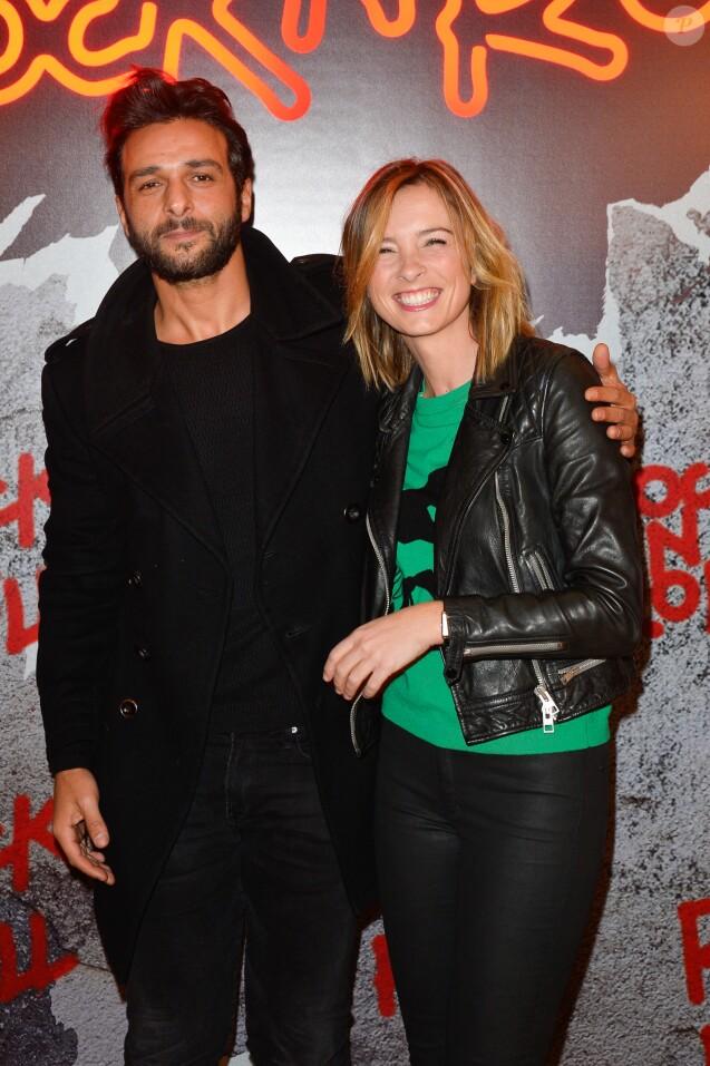 """Maxim Nucci et sa compagne Isabelle Ithurburu - Avant-première du film """"Rock'n Roll"""" au Pathé Beaugrenelle à Paris le 13 février 2017. © Coadic Guirec / Bestimage"""
