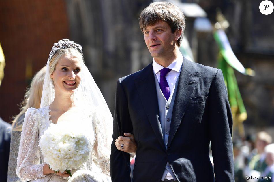 Le prince Ernst August de Hanovre (Jr.) et Ekaterina Malysheva lors de leur mariage religieux à Hanovre en Allemagne le 8 juillet 2017. Le couple a accueilli le 22 février 2018 son premier enfant, Elisabeth.