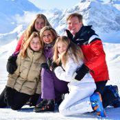 Maxima et Willem-Alexander des Pays-Bas : Souriants avec leurs filles par -21°C
