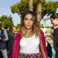 """Majda Sakho (Frau von Mamadou Sakho) - Backstage du défilé de mode Philipp Plein dans la villa """"La Jungle du Roi"""" lors du 70ème festival de Cannes le 24 mai 2017."""