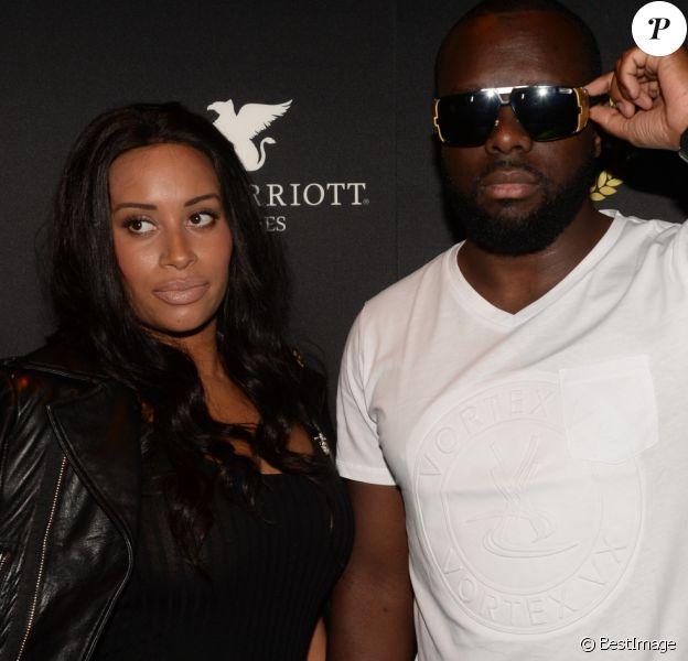 Maître Gims et sa femme DemDem - People au VIP ROOM à Cannes le 14 mai 2016 lors du 69 ème Festival International du Film de Cannes le 14 mai 2016.