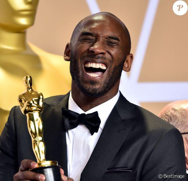 """Kobe Bryant (Oscar meilleur court métrage animé avec """"Dear Basketball"""") - Press room de la 90ème cérémonie des Oscars 2018 au théâtre Dolby à Los Angeles, Californie, Etats-Unis, le 4 mars 2018"""