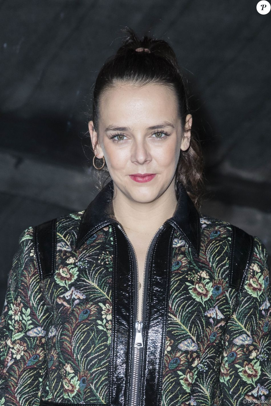 """Pauline Ducruet - Front Row - People au défilé de mode automne-hiver PAP Femme 2018/2019 """"Giambattista Valli"""" à Paris le 5 mars 2018. © Olivier Borde / Bestimage"""