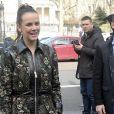 """Pauline Ducruet - Arrivées au défilé de mode prêt à porter Automne Hiver 2018/2019 """"Giambattista Valli """" à Paris le 5 mars 2018."""