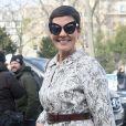 """Cristina Cordula - Arrivées au défilé de mode prêt à porter Automne Hiver 2018/2019 """"Giambattista Valli """" à Paris le 5 mars 2018."""