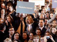 Brigitte Macron, très à l'aise avec les jeunes, dit non au harcèlement