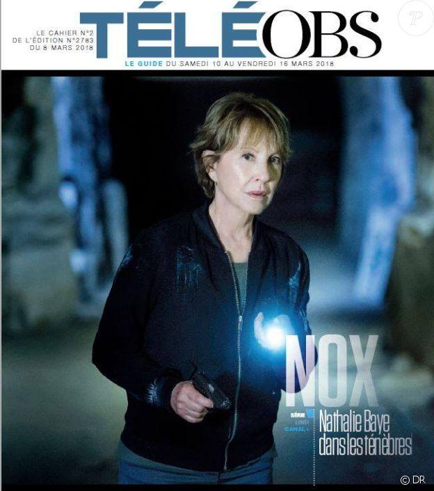 Nathalie Baye dans le numéro du 8 mars 2018 de TéléObs