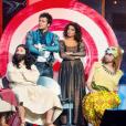 """Les Enfoirés à l'occasion du spectacle """"Musique !"""" joué à Strasbourg en janvier 2018."""