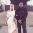 Kim Kardashian et Kanye West fêtent le Nouvel An. Janvier 2018.