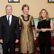 Lara Fabian applaudie par le roi Philippe et la reine Mathilde de Belgique