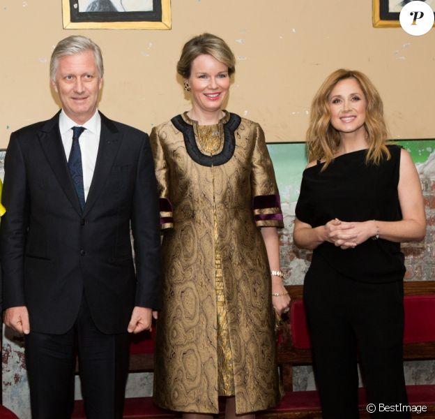 Le roi Philippe et la reine Mathilde de Belgique en visite d'état au Canada assistent à un concert privé de Lara Fabian et d'Alice on the Roof, au théâtre Rialto à Montréa