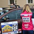 Jazmin Grace Grimaldi - Départ du 28ème Rallye Aïcha des Gazelles depuis la Place du Palais de Monaco à Monaco le 17 mars 2018. Les véhicules électriques ainsi que les équipages monégasques ont quitté la Principauté pour rejoindre les autres véhicules à Nice sur la Promenade des Anglais. © Bruno Bebert/Bestimage