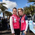 Pauline Ducruet et Jazmin Grace Grimaldi - Départ du 28ème Rallye Aicha des Gazelles depuis la Promenade des Anglais à Nice le 17 mars 2018. © Bruno Bebert/Bestimage