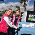 Kiera Chaplin et Jazmin Grace Grimaldi (la fille du prince Albert II de Monaco) - Départ du 28ème Rallye Aicha des Gazelles depuis la Promenade des Anglais à Nice le 17 mars 2018. © Bruno Bebert/Bestimage