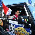 Pauline Ducruet et Schanel Bakkouche - Départ du 28ème Rallye Aicha des Gazelles depuis la Promenade des Anglais à Nice le 17 mars 2018. © Bruno Bebert/Bestimage