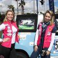 Kiera Chaplin et Jazmin Grace Grimaldi - Départ du 28ème Rallye Aicha des Gazelles depuis la Promenade des Anglais à Nice le 17 mars 2018.