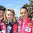 Jazmin Grace Grimaldi, Pauline Ducruet - Départ du 28ème Rallye Aicha des Gazelles depuis la Promenade des Anglais à Nice le 17 mars 2018.
