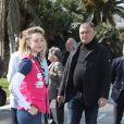 Kiera Chaplin, Jazmin Grace Grimaldi - Départ du 28ème Rallye Aicha des Gazelles depuis la Promenade des Anglais à Nice le 17 mars 2018.