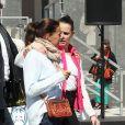 La princesse Stéphanie de Monaco et sa fille Pauline Ducruet - Départ du 28ème Rallye Aicha des Gazelles depuis la Promenade des Anglais à Nice le 17 mars 2018.