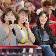 Exclu : Jane Birkin et ses trois filles à l'enregitrement de Vivement Dimanche, janvier 2013.