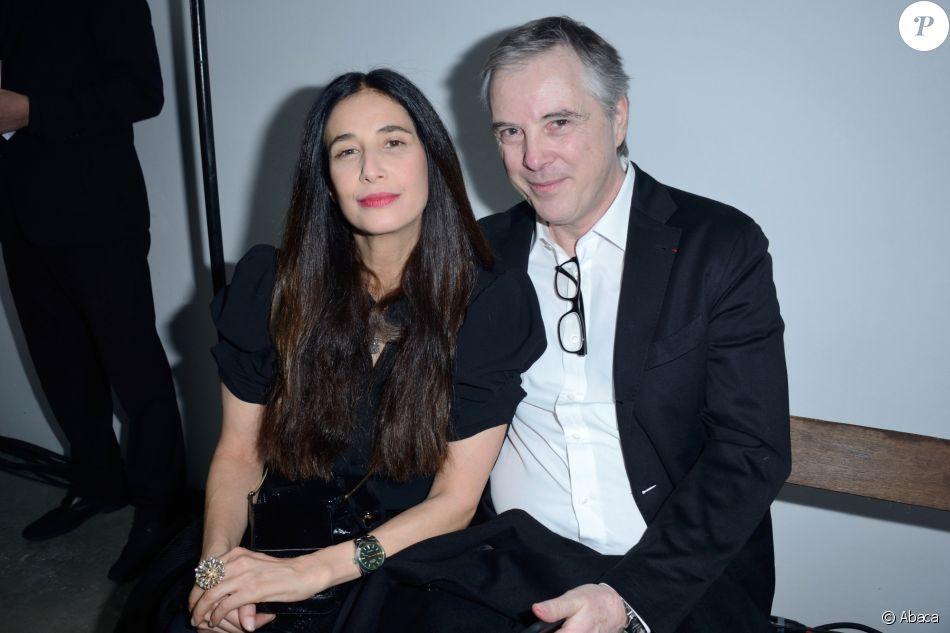 Olivier Lapidus et son épouse Yara Lapidus à Paris. Janvier 2018.
