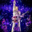 Le chanteur Prince en concert à Manchester. Le 19 mai 2014