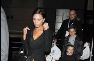 Victoria Beckham et ses trois fils ont fait le voyage à Londres... pour applaudir papa !
