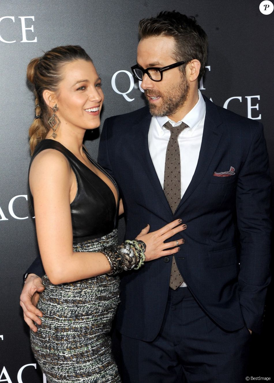 Blake Lively et Ryan Reynolds - Avant-première de 'A Quiet Place' au Loews Lincoln Square à New York. Le 2 avril 2018.