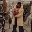 Alia (Secret Story 9) à Montmartre pour son anniversaire, le 10 avril 2018.