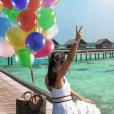 Alia dans un endroit paradisiaque, un cliché publié le 10 avril 2018.