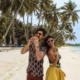 Ali et Alia (Secret Story 9) aux Maldives en mars 2018.
