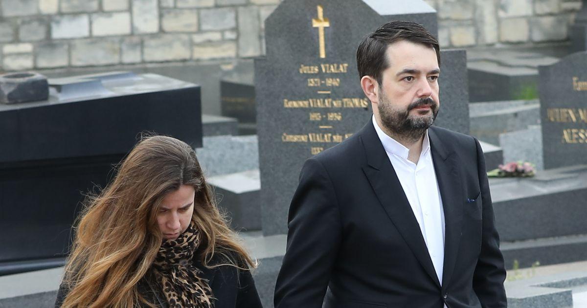 Jean fran ois pi ge et sa femme elodie lors des obs ques de v ronique colucci au cimeti re - Jean francois balmer et sa femme ...