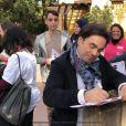 """Les finalistes de """"The Voice 7"""" à Disneyland Paris, le 15 avril 2018. Ici Frédéric Longbois."""