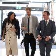 Le prince Harry et sa fiancée Meghan Markle lors d'une réception du forum des jeunes pendant le Commonwealth Heads of Government Meeting à Londres le 18 avril 2018.