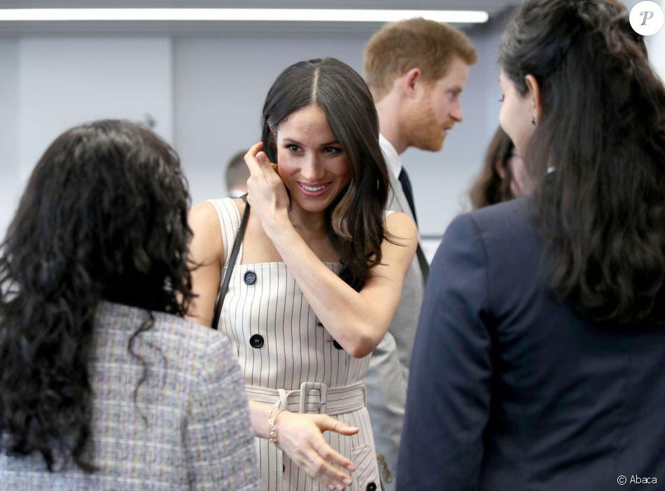 Meghan Markle lors d'une réception du forum des jeunes pendant le Commonwealth Heads of Government Meeting à Londres le 18 avril 2018.
