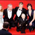 Verne Troyer avec le cast de l'Imaginarium du Docteur Parnassus à Cannes en mai 2009.