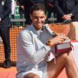 Rafael Nadal remporte la finale du Rolex Monte Carlo Masters 2018 qui l'a opposé au Japonais Kei Nishikori au Monte Carlo Country Club à Roquebrune Cap Martin le 21 avril 2018. Rafael Nadal a remporté pour la 11eme fois le tournoi en battant son adversaire en 2 sets. © Bruno Bébert/Bestimage