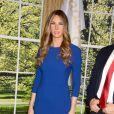 Melania Trump fait son entrée au musée Madame Tussauds de New York, ce 25 avril 2018. La First Lady rejoint ainsi la statue de cire de son époux Donald Trump.