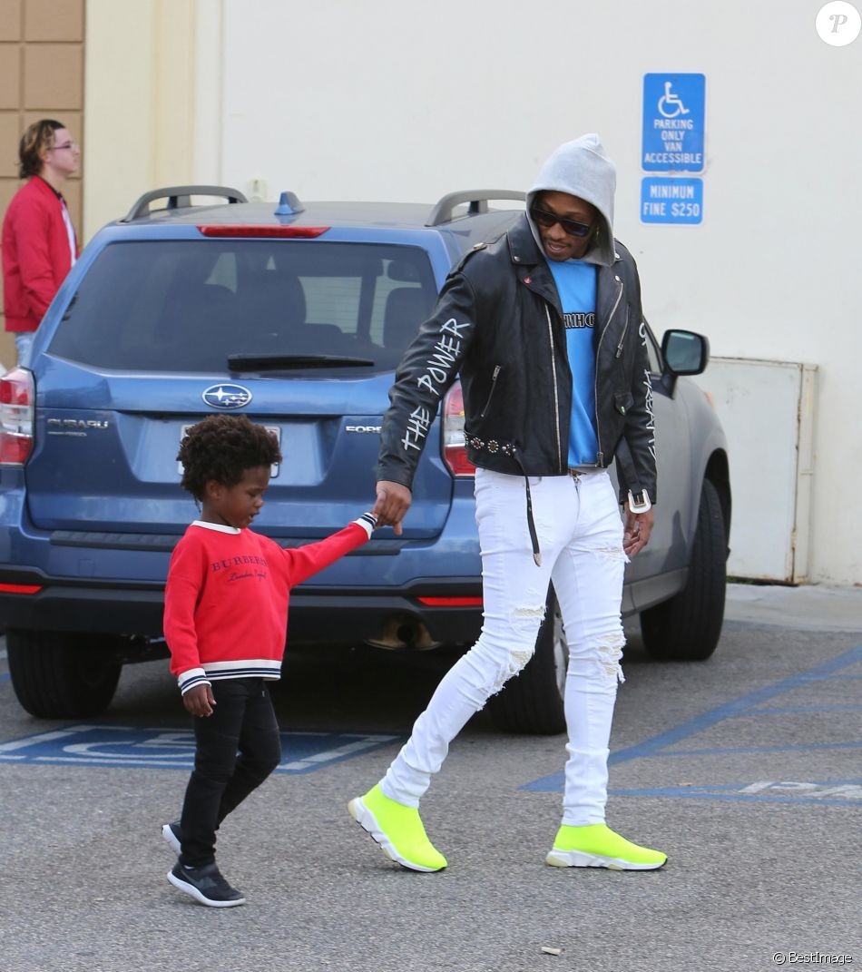 Exclusif - Future et son fils Future Zahir Wilburn à Los Angeles, le 9 avril 2018 © CPA/Bestimage