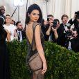 Kendall Jenner n'a laissé que peu de place à l'imagination sur les marches sur Met Gala 2017. Le top a dévoilé sa silhouette fuselée dans une robe à cristaux La Perla.