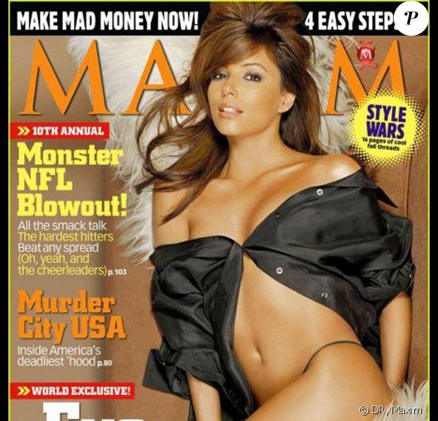 "Eva Longoria mise à nu pour le magazine ""Maxim"" !"