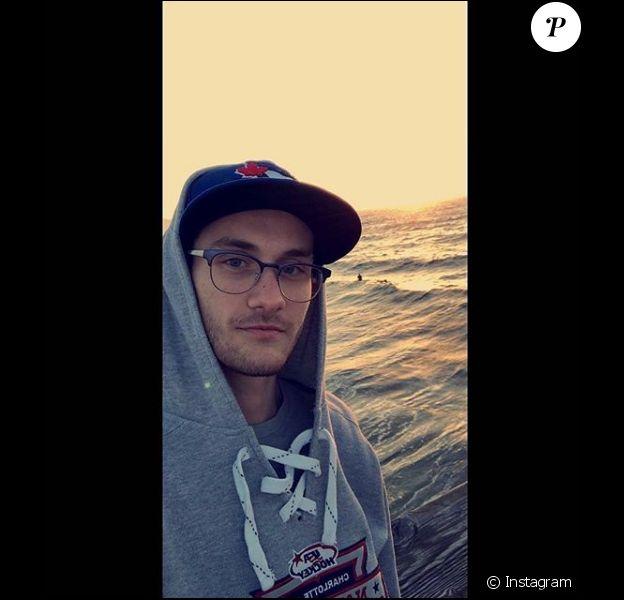 René-Charles Angélil, fils de Céline Dion, alias Big Tip dans le monde de la musique, rencontre un vif succès avec ses premiers titres mis en ligne sur Soundcloud. Photo Instagram du 10 mai 2018.
