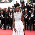 Lupita Nyong'o (robe Dior et bijoux Chopard) - Montée des marches du film « Plaire, aimer et courir vite » lors du 71ème Festival International du Film de Cannes. Le 10 mai 2018 © Borde-Jacovides-Moreau/Bestimage