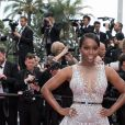 """Aja Naomi King (robe Zuhair Murad et  souliers Giuseppe Zanotti ) - Montée des marches du film """" Plaire, aimer et courir vite """" lors du 71ème Festival International du Film de Cannes. Le 10 mai 2018 © Borde-Jacovides-Moreau/Bestimage"""