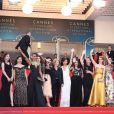 Frédérique Bredin, Emmanuelle Bercot, Eva Husson (Bijoux Piaget), Golshifteh Farahani (collier Cartier), Françoise Nyssen, Didar Domehri avec l'équipe du film, Thierry Frémaux - Montée des marches du film «Les Filles du Soleil» lors du 71ème Festival International du Film de Cannes. Le 12 mai 2018 © Borde-Jacovides-Moreau/Bestimage