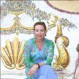 """Diane d'Orléans, duchesse de Wurtemberg, dans sa propriété (""""Fleur de Lys"""") à Esporles à Majorque le 16 août 2005."""