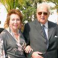 Diane d'Orléans, duchesse de Wurtemberg et le duc Charles de Wurtemberg lors du mariage de Victoria de Bourbon-Siciles et Marco Nomikos en septembre 2003 à Almagro en Espagne.