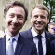 Le Président de la république française Emmanuel Macron visite le château de Monte-Cristo en compagnie de Stéphane Bern et Francoise Nyssen, Marly-le-Roi, France, le 15 septembre 2017. © Stéphane Lemouton/Bestimage