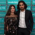 Ophélie Bau et Roméo de Lacour dans la suite Sandro & Co à Cannes le 17 mai 2018.