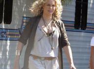 La belle Rebecca Romijn ne choisit pas entre travail et famille... elle emmène ses bébés sur son tournage !